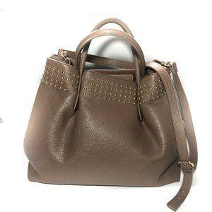 Gianni Notaro Satchel Carol J Brown Leather Studs